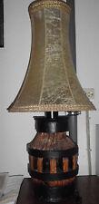 Stehlampe Radnabe mit Lampenschirm rustikal