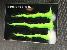 5 x MONSTER ENERGY GREEN       4 INCH STICKERS  (only 50p a sticker)