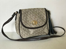NEW! TOMMY HILFIGER KHAKI BEIGE BROWN FLAP CROSSBODY SLING BAG PURSE $65 SALE