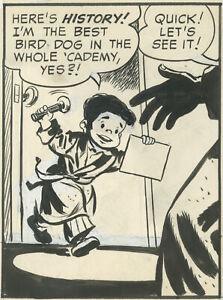 Irwin Hasen, Dondi daily, February 1, 1958, NO RESERVE!
