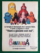 VV11 Pubblicità Advertising Clipping 19x13 cm (1975) BARBAPAPA' FABIANPLASTICA