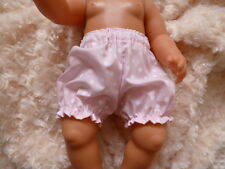 BJB dolls clothes, Pink spotty knickers pants fit baby born doll
