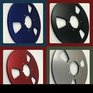 """5 PCS of New 10.5"""" Empty NAB Metal Reels w/Hinged Boxes for 1/4"""" Tape"""