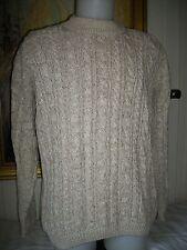 Gros pull tricot torsadé coton beige NATURE & CO XL/54 Ecological concept