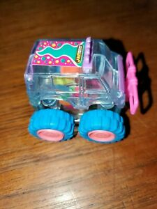 1997 Subway Fast Food Clear 4 Wheeler Toy Car