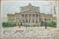 Hold-To-Light 1904 Postcard: Gruss Aus Berlin-Germany-Schauspielhaus-Color Litho