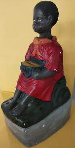 Rot / Rote Nickneger Missionsspardose Spardose Opferstock Mohrenkopf nickend #90