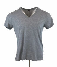 G STAR RAW T-Shirt Top Tee Grey V Neck Base HTR Slim Fit Large Mens
