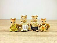 Sylvanian Families Furbanks Squirrel Family Kenneth Emma Greta Douglas Set