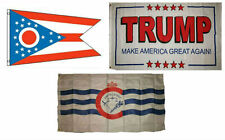 3x5 Trump White #2 & State of Ohio & City of Cincinnati Wholesale Set Flag 3'x5'