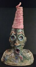 Hand Made Native American Two-Faced Ceramic Sculpture