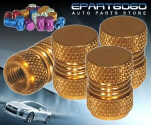 Aluminum Gold Anodized Wheel Valve Stem Valve Caps For Honda Tires/Rims