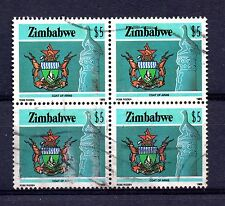 Zimbabwe (780)1985 High Values  National Infrastructure Used $5.00 in block of 4