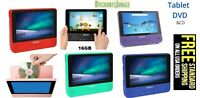 DigiLand DL9002 Portable DVD /Google Android Wi-Fi Tablet  9'' Touchscreen 16GB