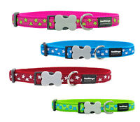 Red Dingo Pink Red Green Blue Classic Star Puppy Dog Collar Size X Small-Large