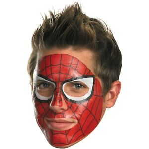 Marvel Heroes Official Licensed Spiderman Mask Face Transfer Tattoo