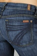 Seven 7 FOR ALL MANKIND Dojo Flare Leg Trouser Jeans MDNY Wash, Size 27