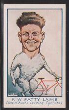 Turf Virginia Cigarettes - 1933 Cycling Stars - No. 80 Fatty Lamb