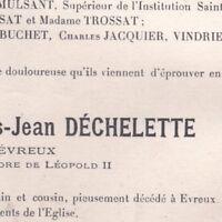 Monseigneur Louis-Jean Déchelette Evreux 1920 Evêque Archevêque de Lyon
