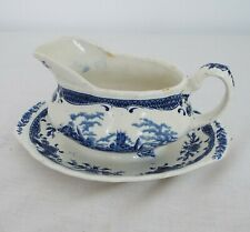 W.H. Grindley - Scenes after constable - vintage pottery - Sauce boat