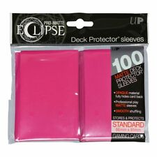 Ultra PRO Eclipse Deck Protector Sleeves Pro-Matte Pink Standard 100ct 66x91mm