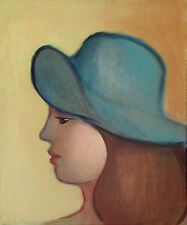 "Painting: ""Girl with Blue Hat"" oil on canvas, 10 x 12 in. 1999  by Michael Koch"