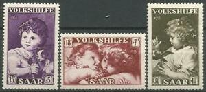 Germany Saar 1953 MNH Relief Fund Art Paintings Titian Rubens Mi-344-6 SG-341/43