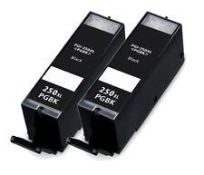 2 PACK PGI250 XL Black Ink for Canon PIXMA MG7120 MG7520 MX722 MX922