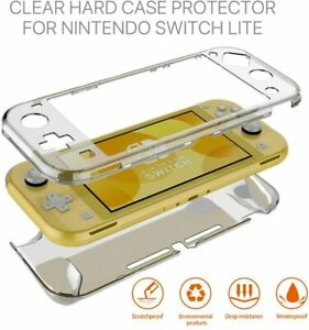 For Nintendo Switch Lite Transparent Clear Cover Shockproof Protective Hard Case