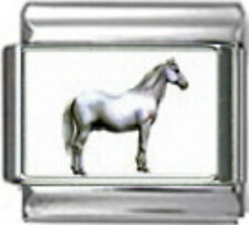 HORSE LIPIZZANER Photo Italian 9mm Charm HO047 Fits Nomination Classic