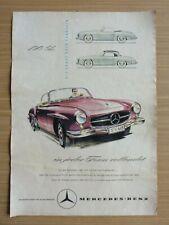 Altes Mercedes Benz 190SL Werbeplakat