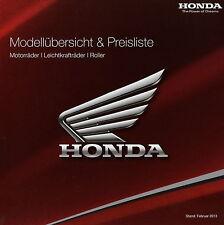 Honda Prospekt 2013 brochure broschyr Hornet 600 CB 1100 Fireblade Gold Wing NSC