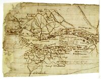HARDBACK SKETCH MAP FIRST DETAILED SURVEY OF SCOTLAND 1590 AD