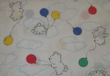 Vintage Carter's Teddy Bears & Balloons Fitted Crib/Toddler Bed Sheet {Fabric}