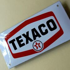 TEXACO Türstreifen Emailschild MAKELLOS Texas Benzin Tankstelle Auto Öl Chevron