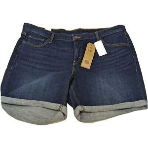 Levi's Women's Plus Jean Shorts Size 20W Blue Forest NWT