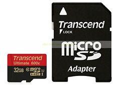 Transcend Micro SD HC 32GB 32G 90MB/SEC Ultimate 600X Class 10 C10 U1 UHS1 Card