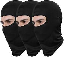 3 Pack Men Balaclava Black Face Mask Lightweight Motorcycle Ski Warmer