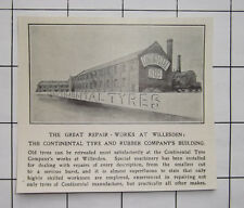 WILLESDEN Continental Tyres & Rubber Repair Works Building 1909 News Clipping