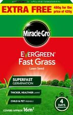New Miracle Gro Evergreen Fast Grass Lawn Seed 420g
