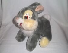 "DISNEY STORE 12"" Plush Core THUMPER Bunny BAMBI Laying Floppy Stuffed Animal Toy"
