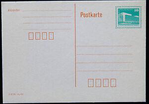 DDR Ganzsache 10 Pfennig Berlin Palast der Republik, ungelaufen, unbeschriftet