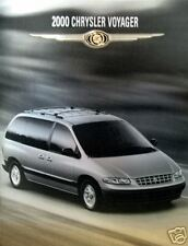 2000 Chrysler Voyager minivan new vehicle brochure