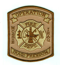 OPERATION IRAQI FREEDOM الموص MOSUL FIRE DEPARTMENT miss print PATCH
