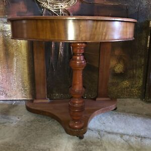 Old Antique Demi Lune Console Hall Table Arts & Crafts