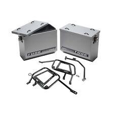 Tusk Aluminum Panniers with Racks Medium Silver Fits: Suzuki DR650SE 2011–2014