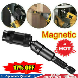 Black Tip Pivoting Steel Drill Swivel Bit Impact Magnetic Bit Screw Holder
