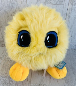 New Neopets Yellow JubJub Juane Plush Nickelodeon Fuzzy Ball Feet Eyes
