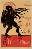 Le Cthulhu Noir Art Mural Inch Poster 36x54 inch