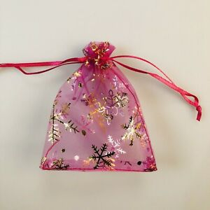 Snowflake Organza Gift Bags Christmas Jewelry Candy Wedding Favour XMAS Pouches